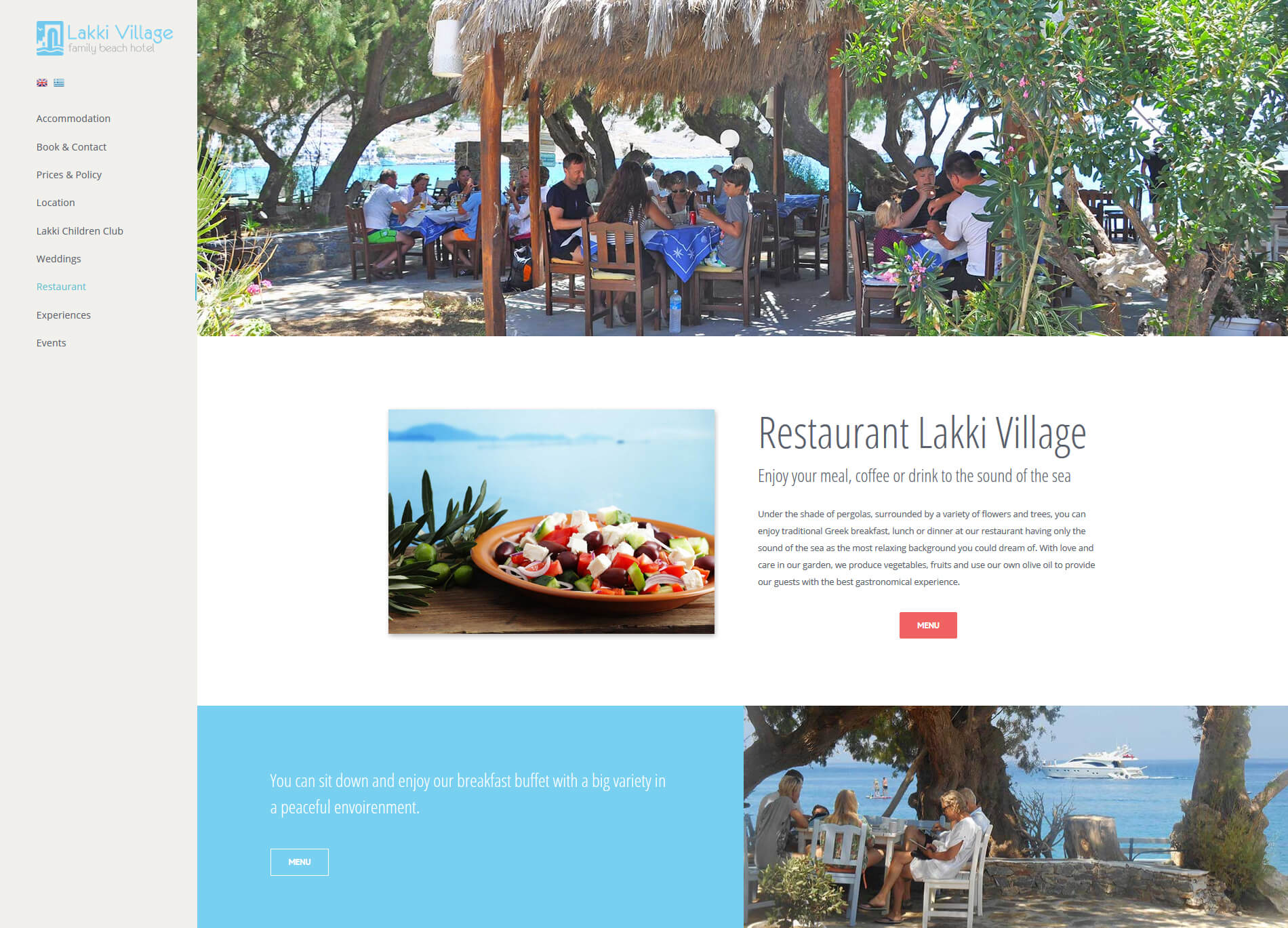 Web design anweb Lakki Village Family Beach Hotel