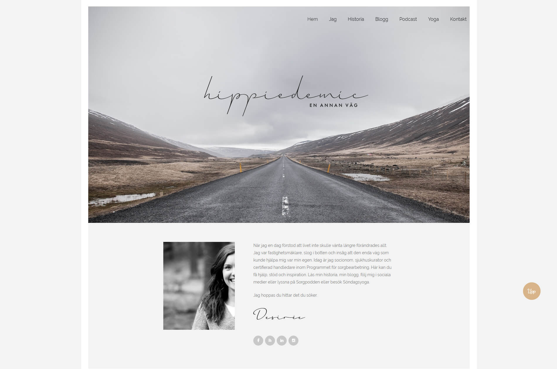 Web design anweb Hippiedemic Sorg podcast Blogg Yoga