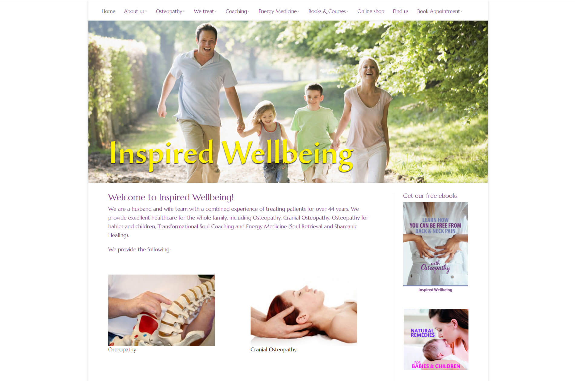 Web design anweb Inspired Wellbeing