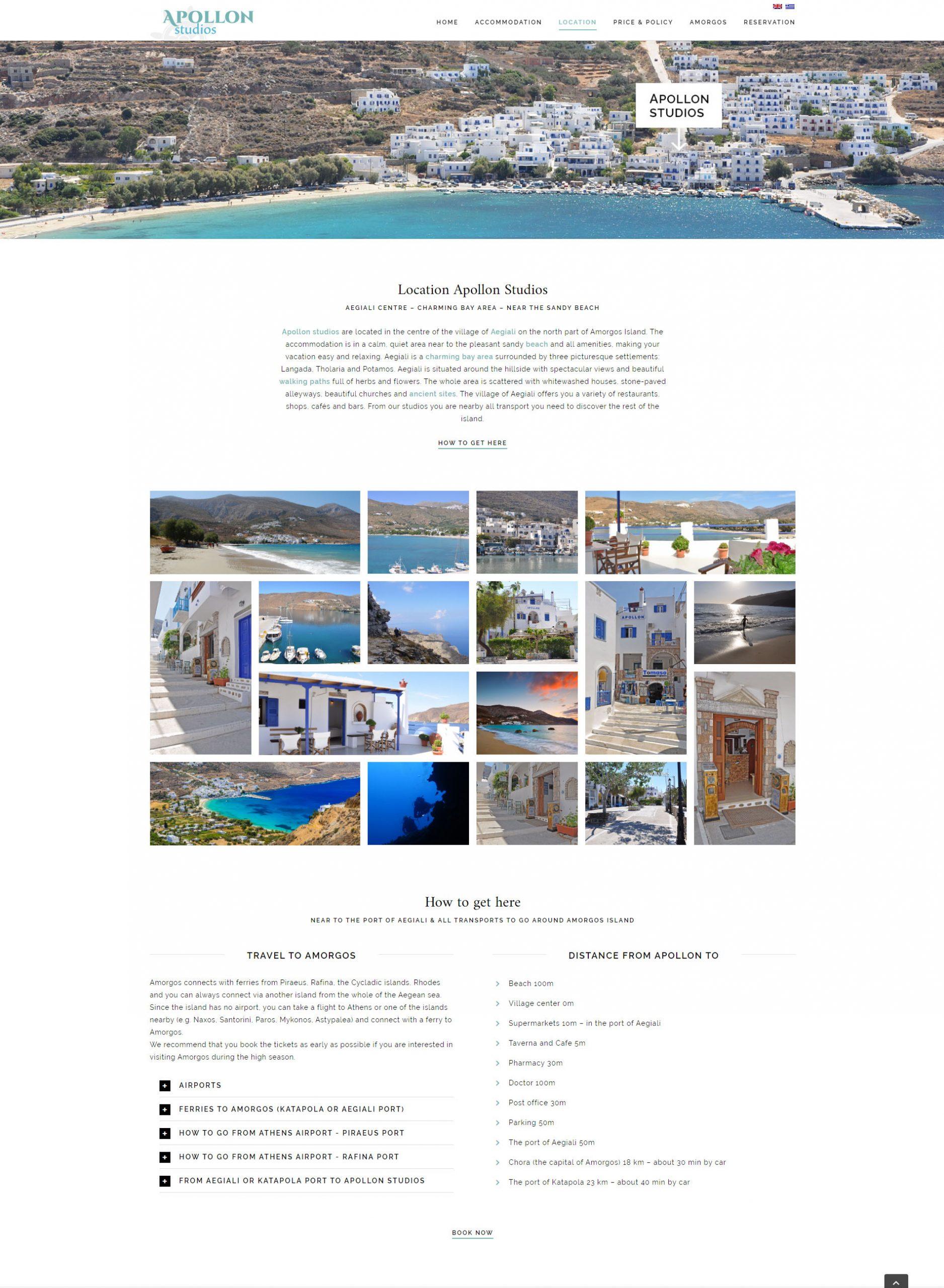 Webdesign Apollon Studios Amorgos