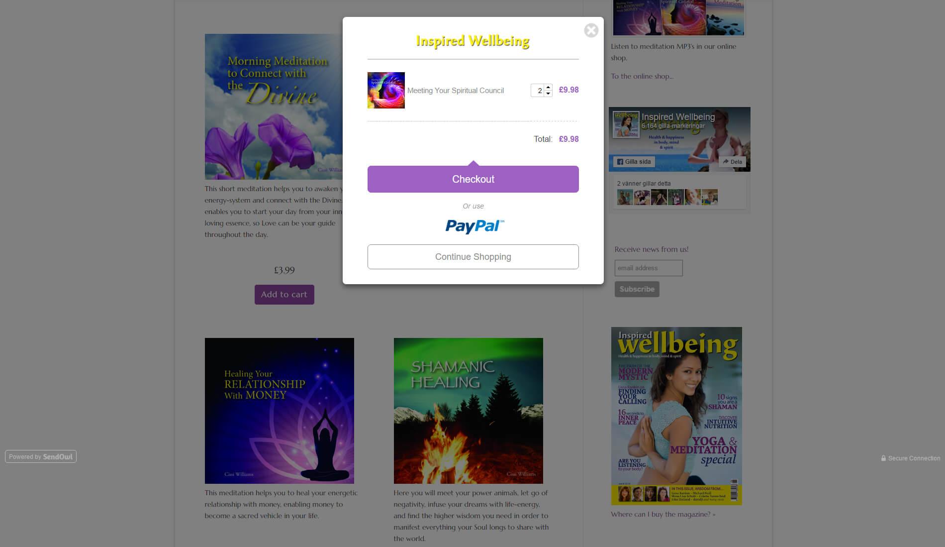 anweb Web design Webshop Inspired Wellbeing