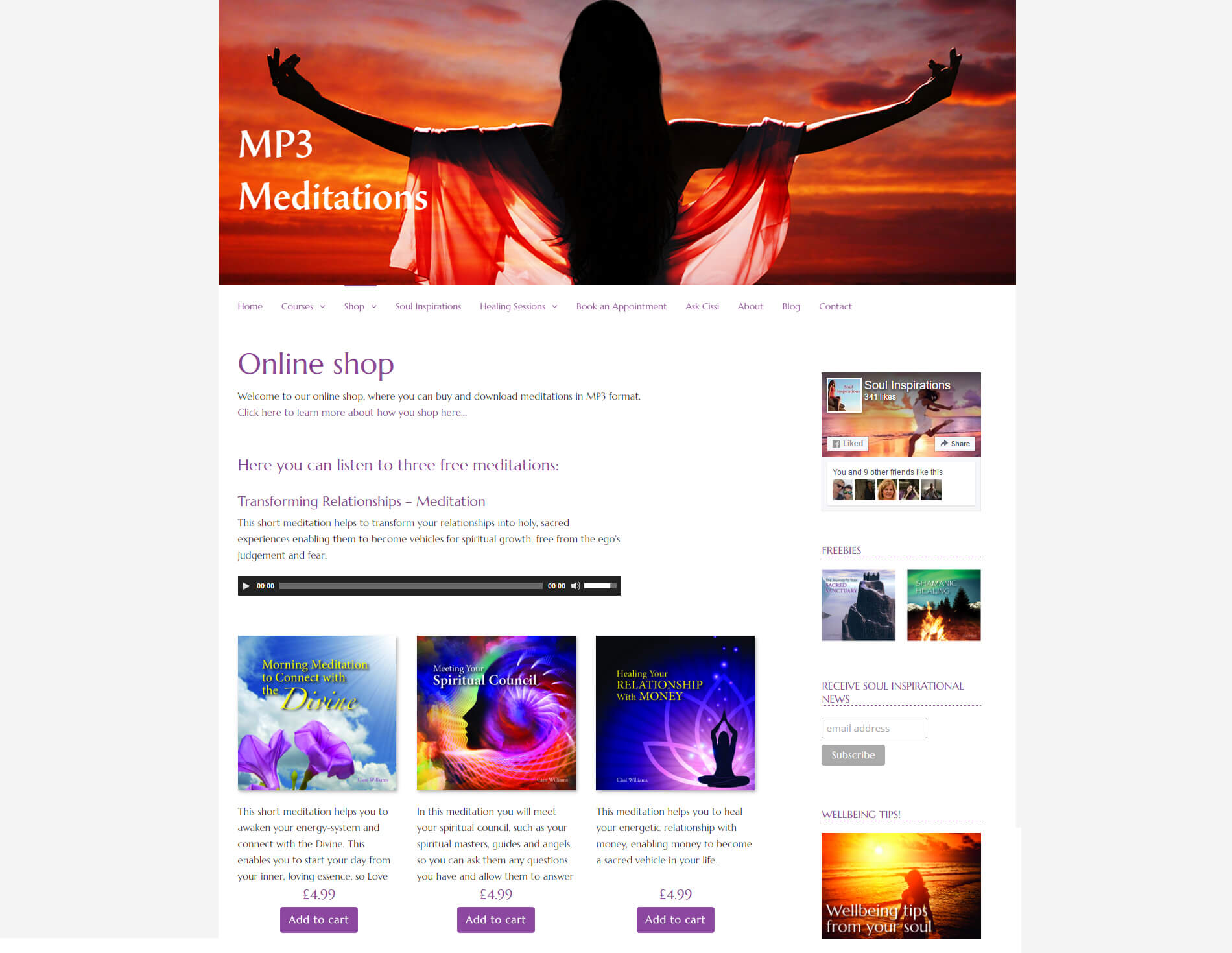 anweb Web design Webshop Soul Inspirations