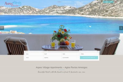 Webbdesign Aspes Village Amorgos