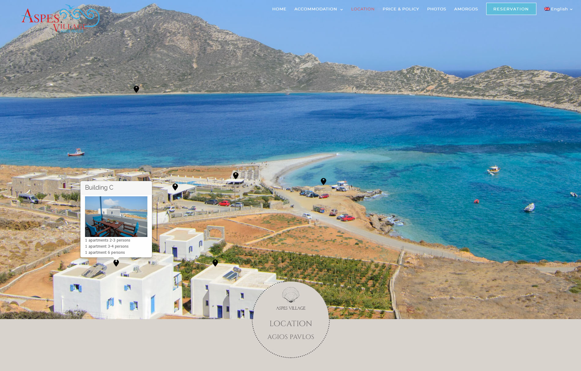 Aspes Village Amorgos Accommodation Website