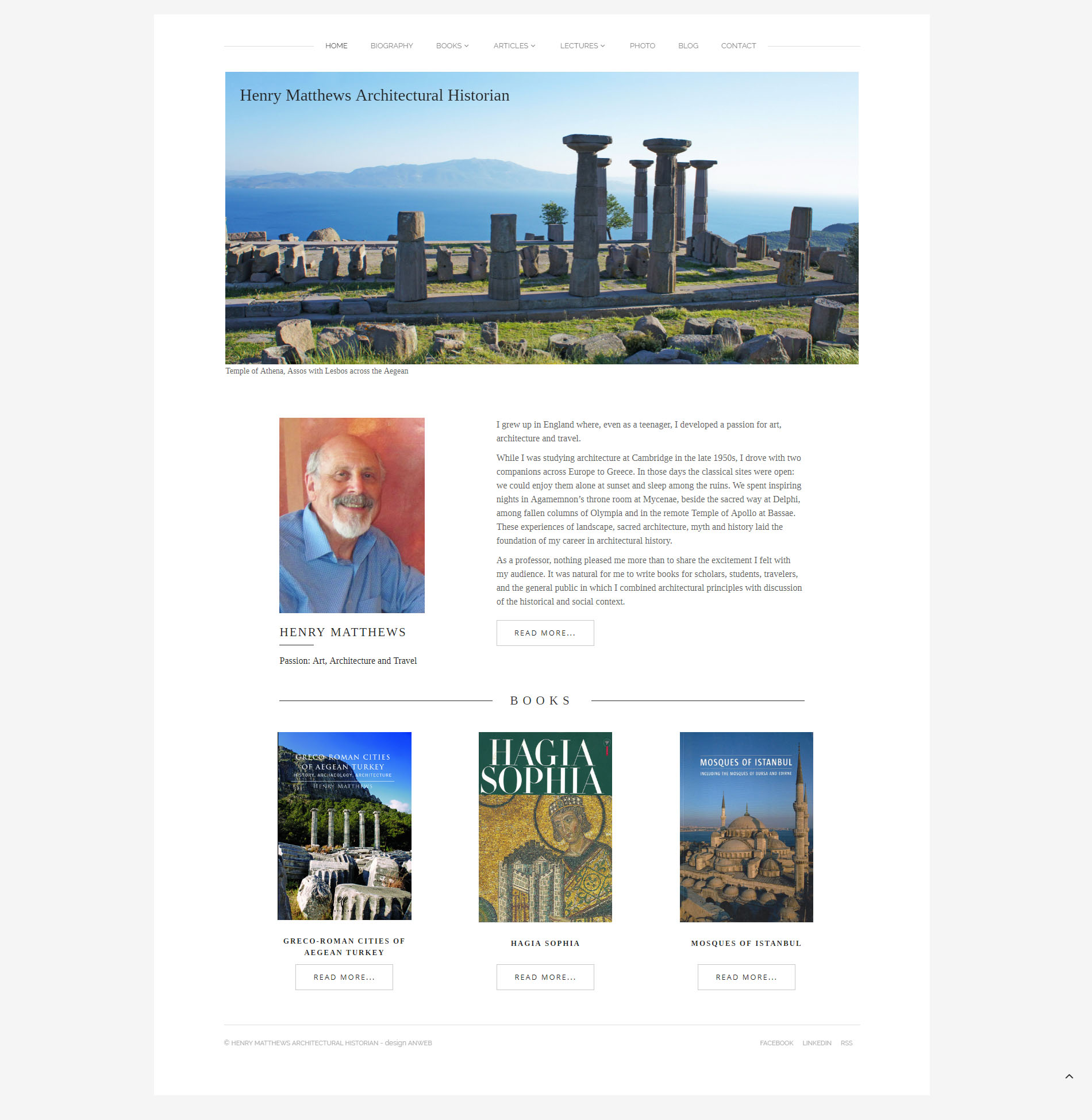 Webbdesign Anweb Henry Matthews Arkitekturhistoriker