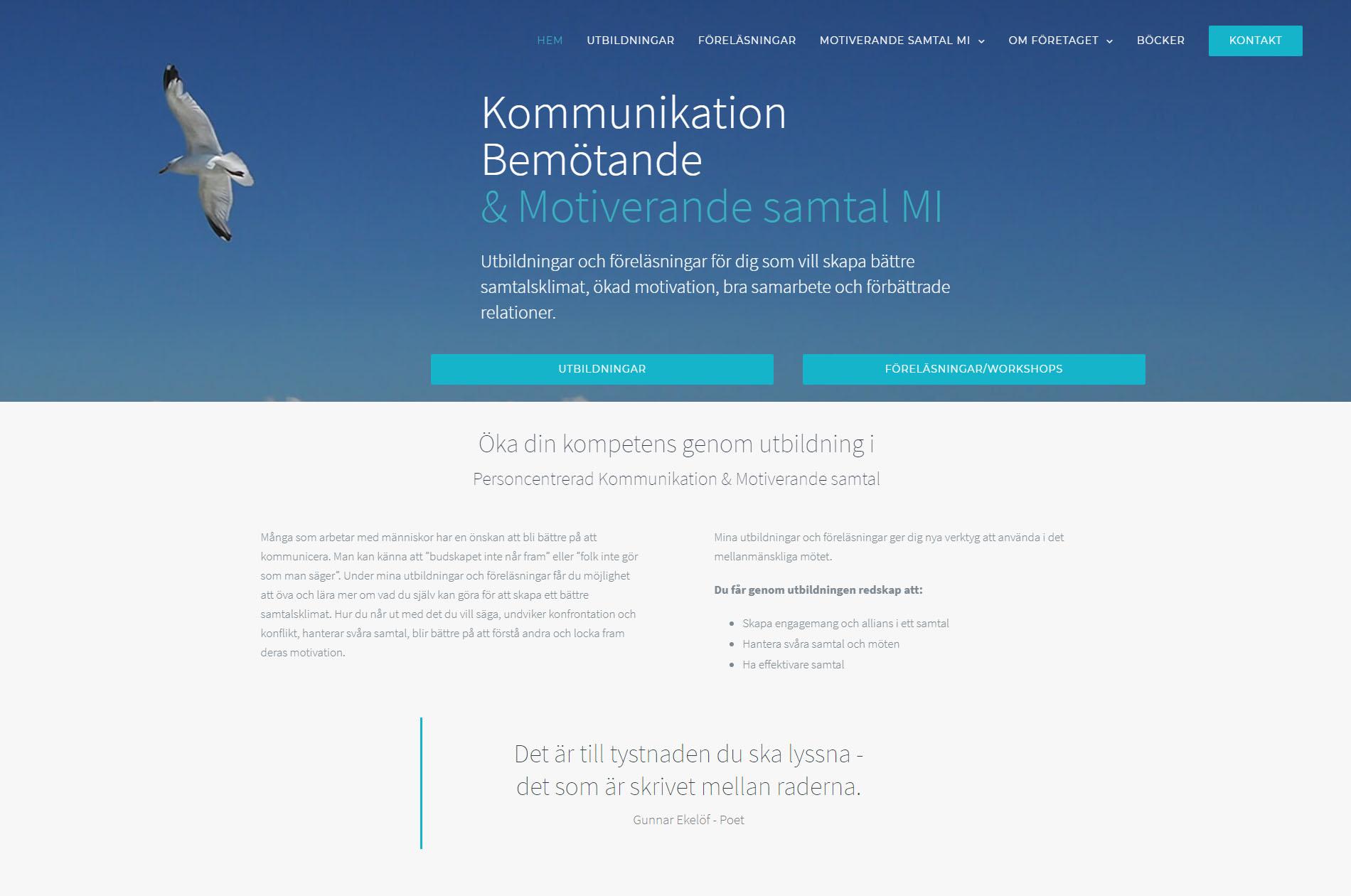 Web Design Motiverande Samtal