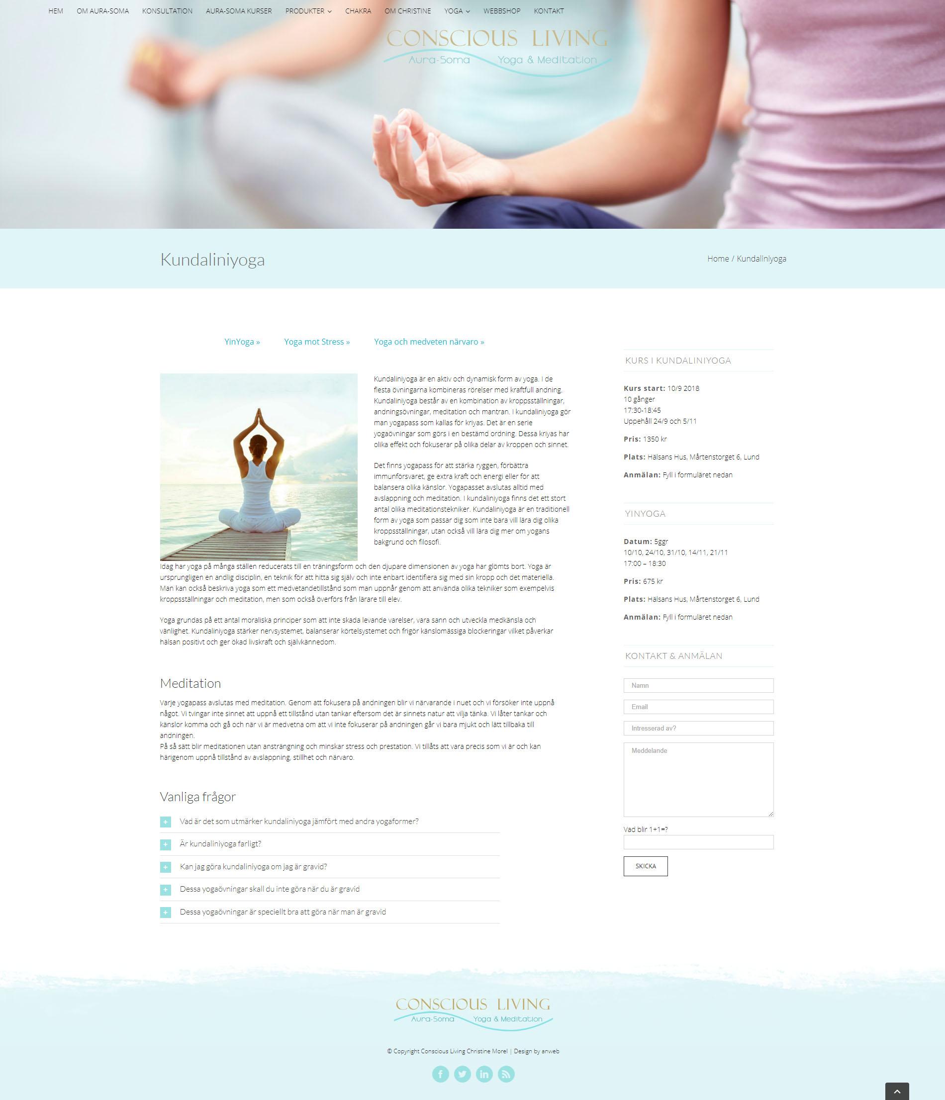 Webbdesign Yoga