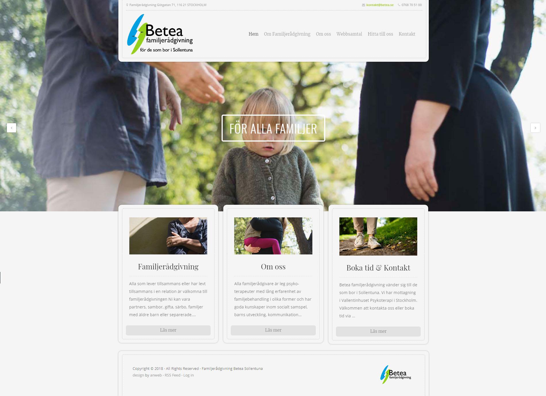 Webbdesign  Familjeterapi