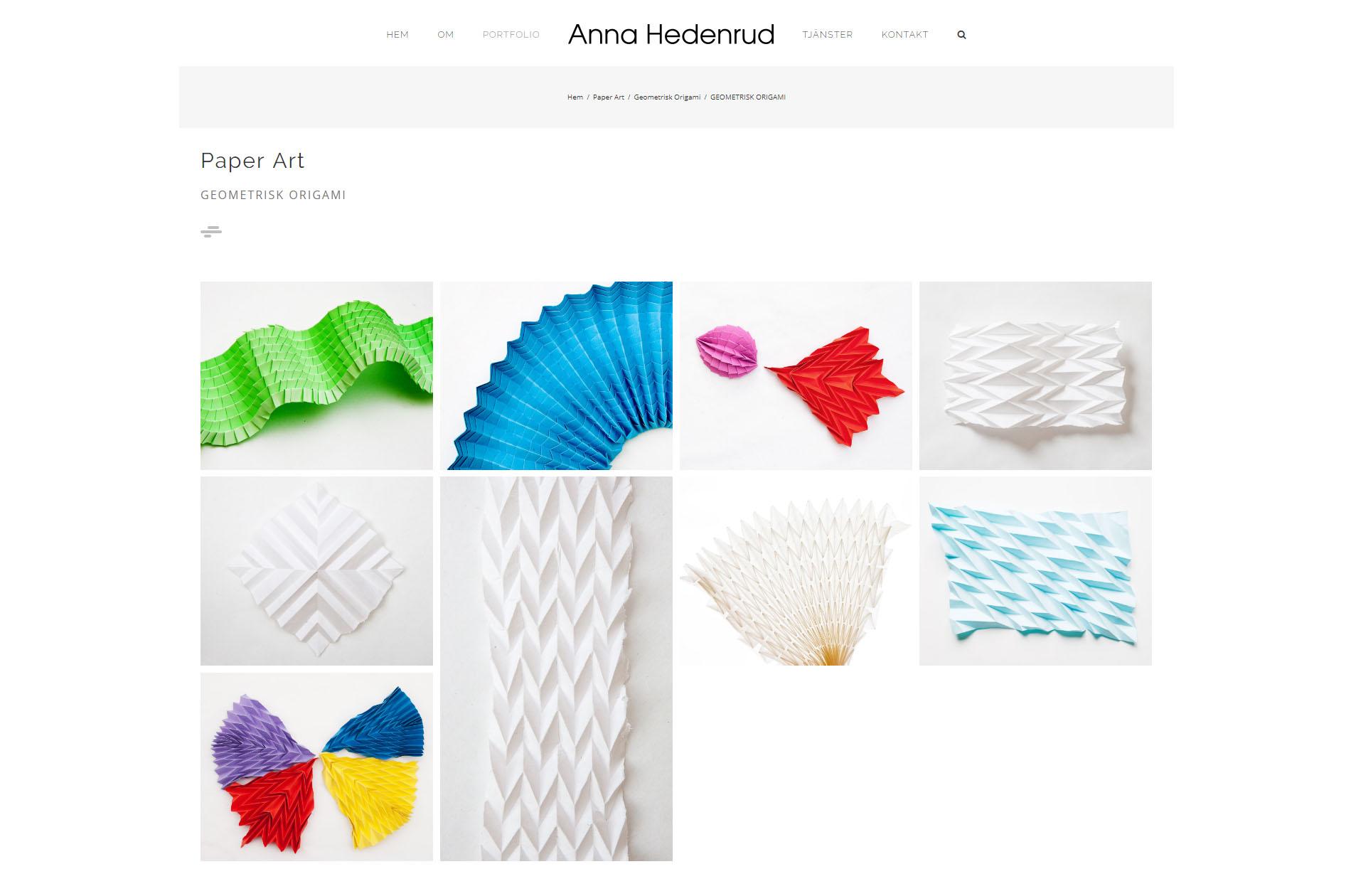 Website Anna Hedenrud Graphic designer