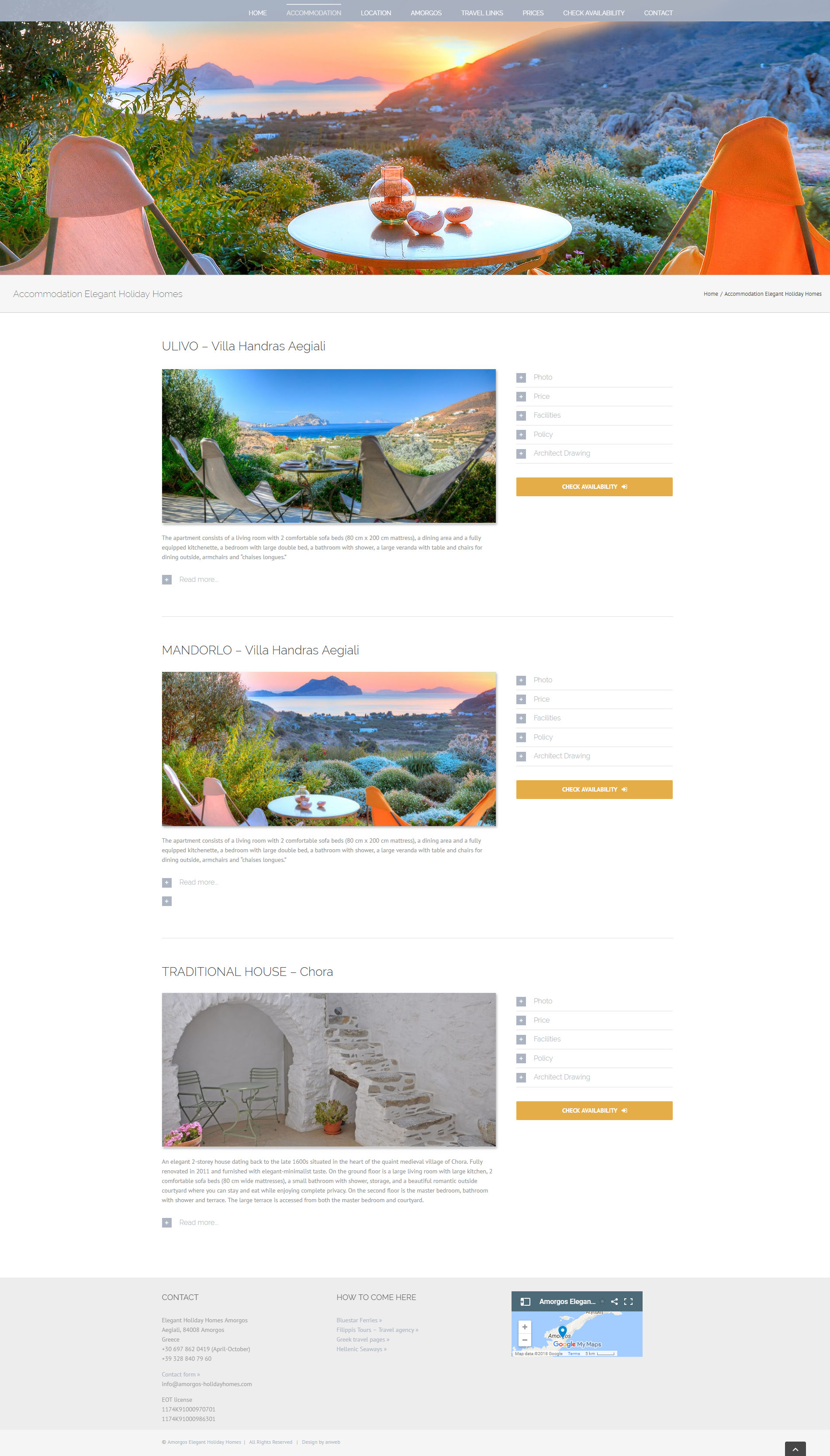 Website Elegant Holiday Homes