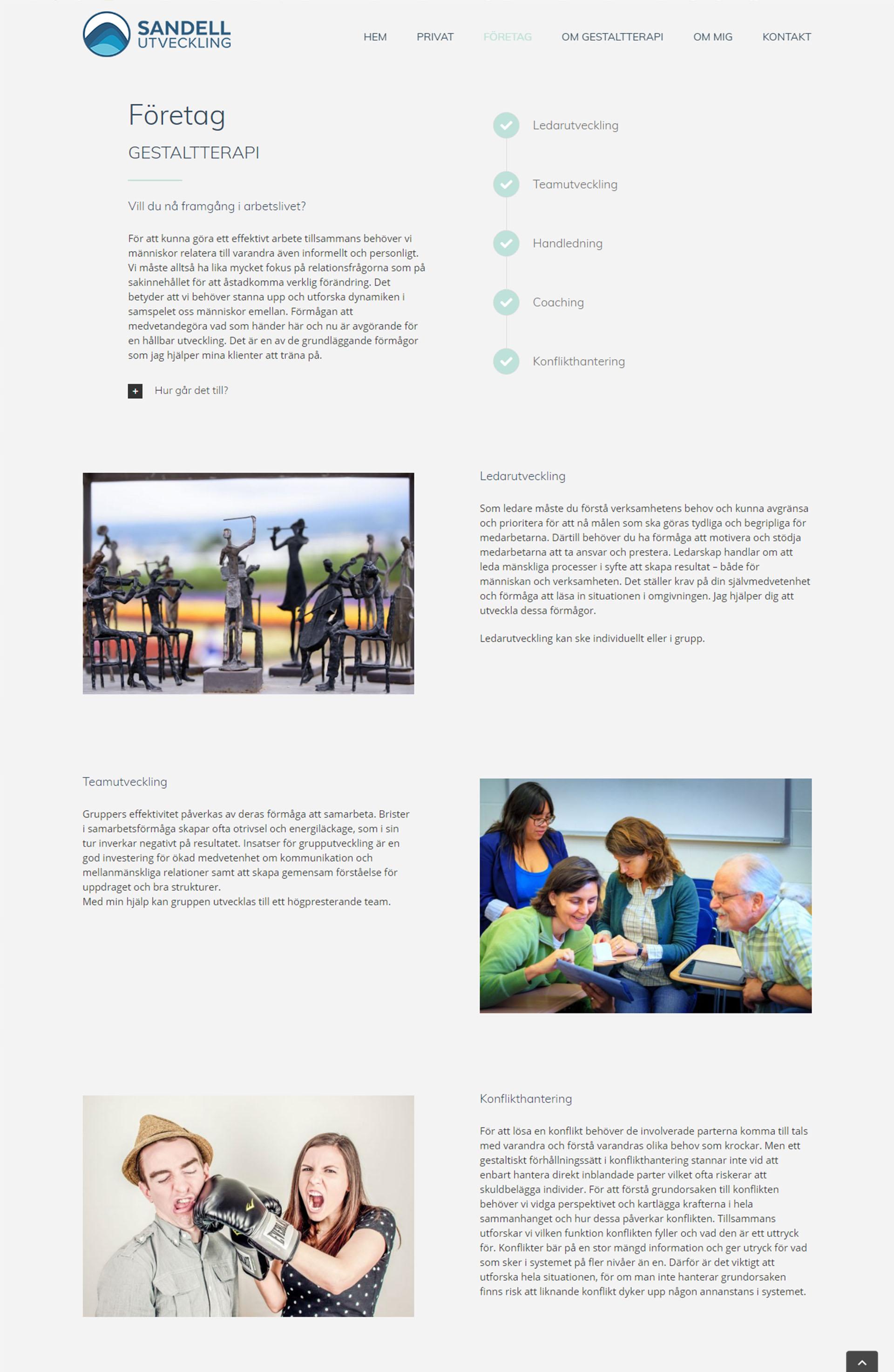 Webb Design anweb Sandell Utveckling