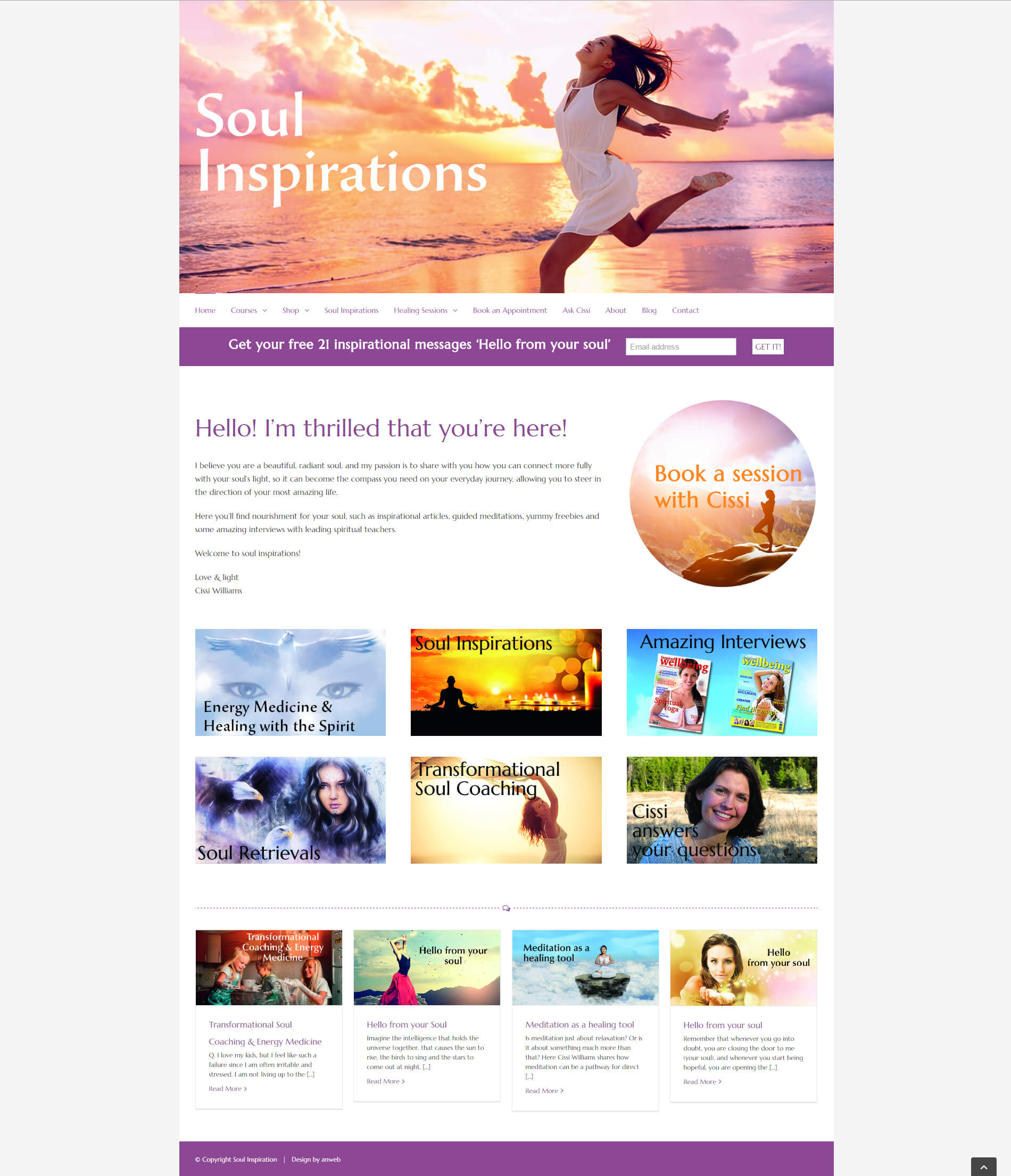 Hemsida Responsiv WordPress Soul Inspirations