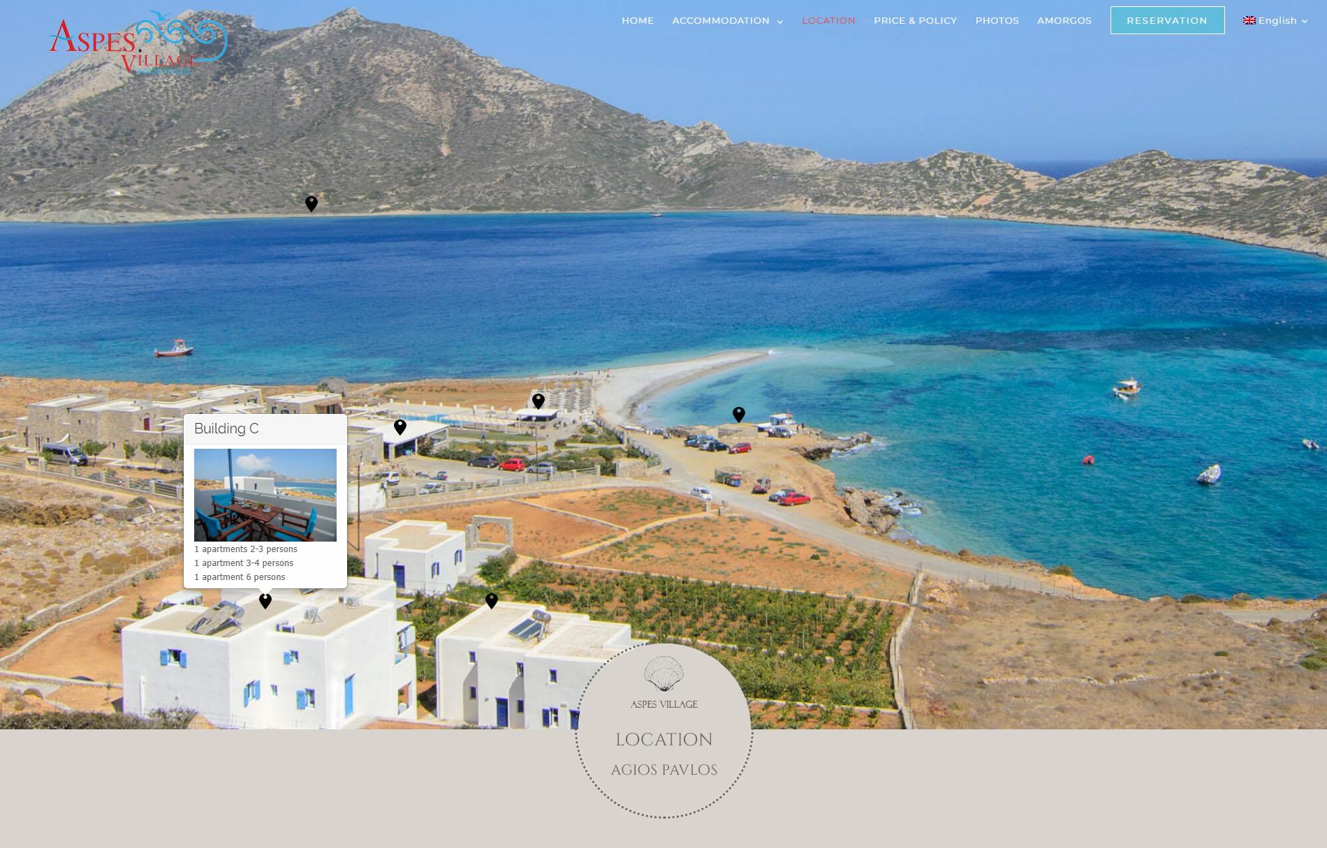 Aspes Village Amorgos Accommodation Website