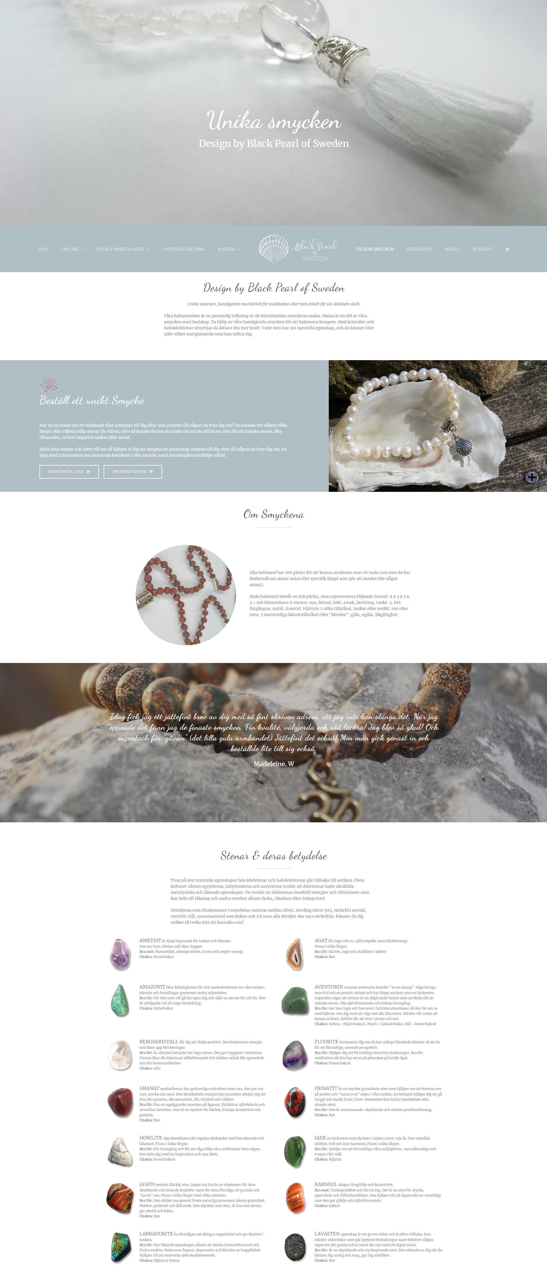 Black Pearl of Sweden Web Design