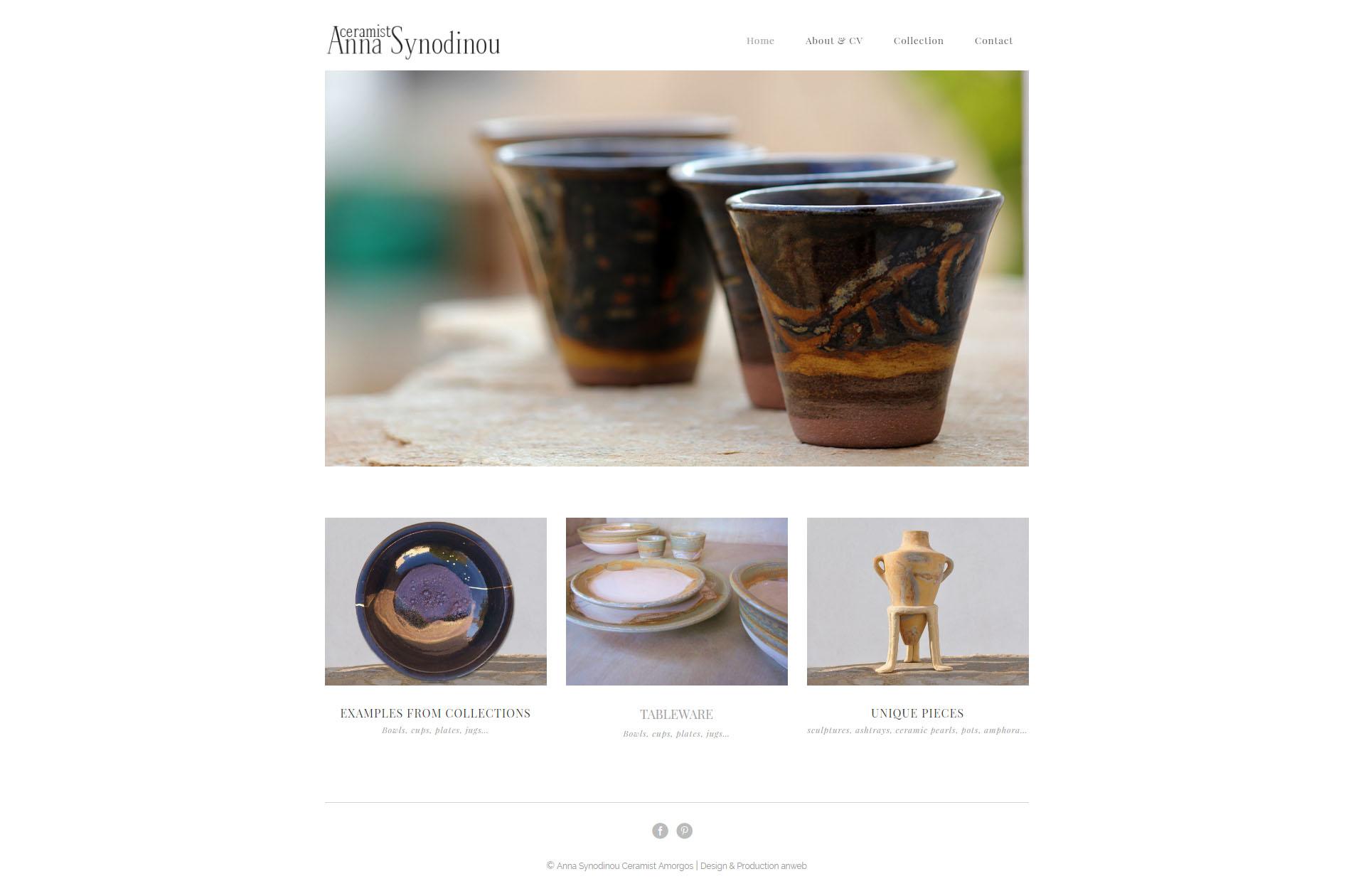 Web Design anweb Anna Ceramist