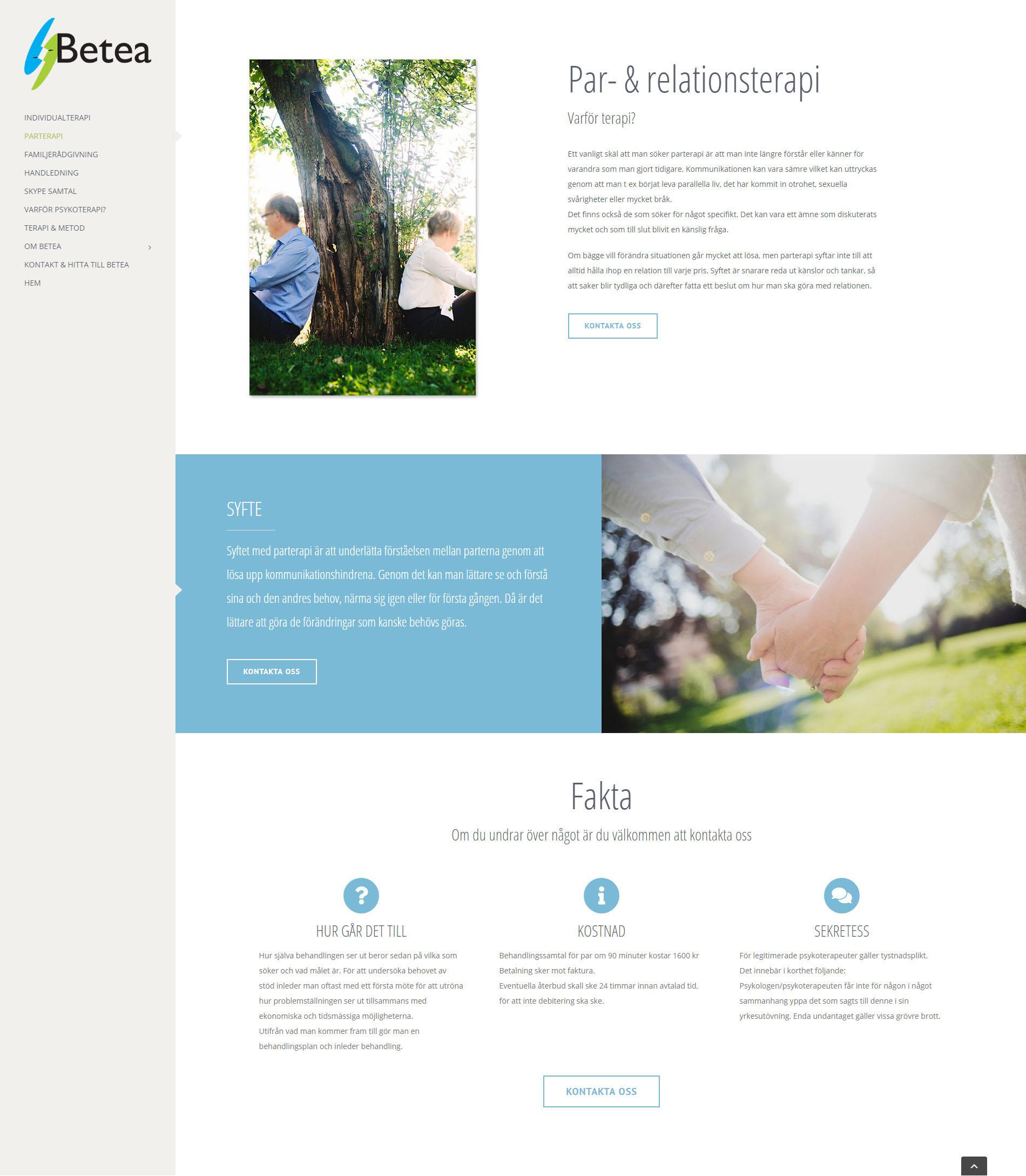 Web Design WordPress Betea Psychotherapy