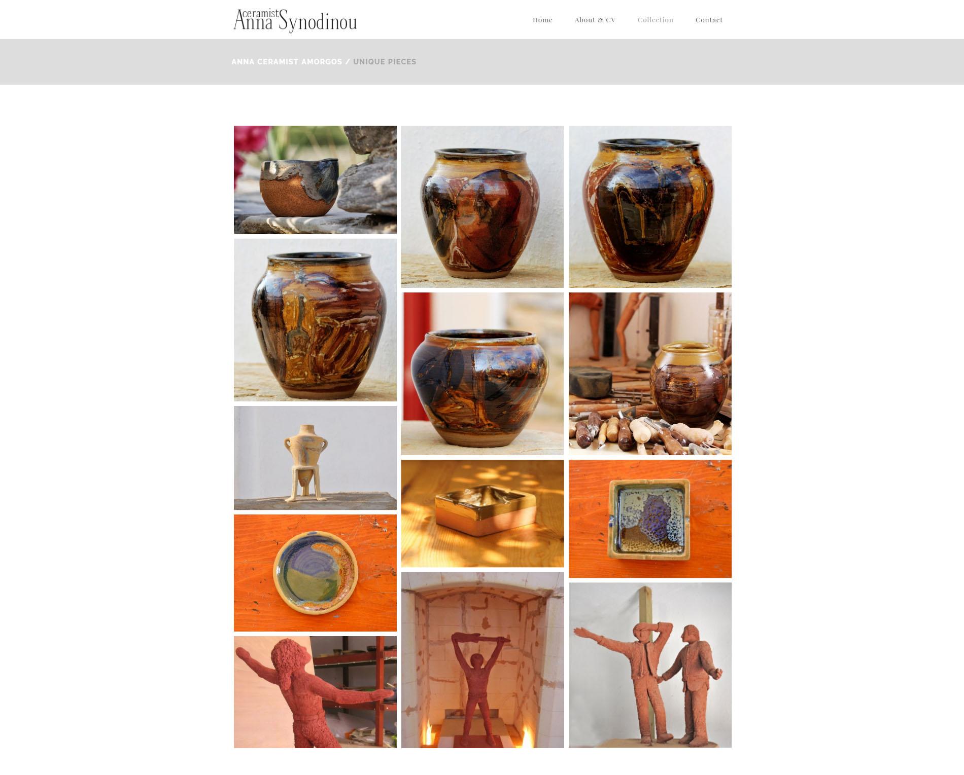 Website anweb Anna Ceramist