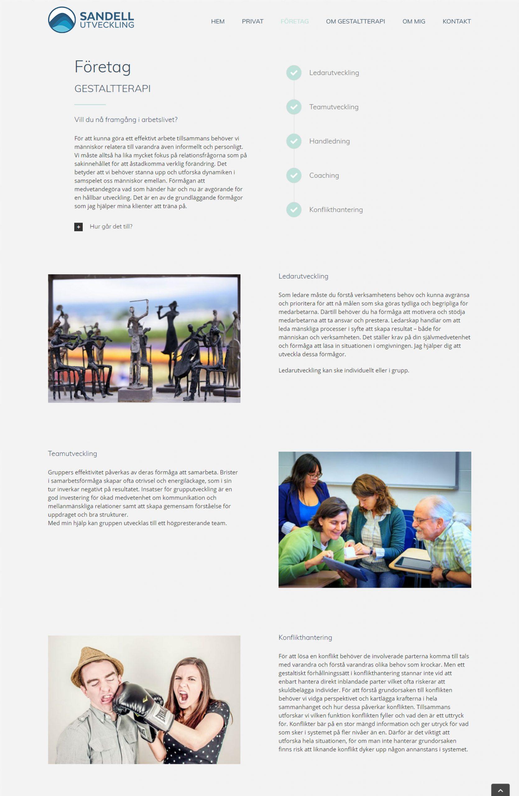 Web Design anweb Sandell Utveckling